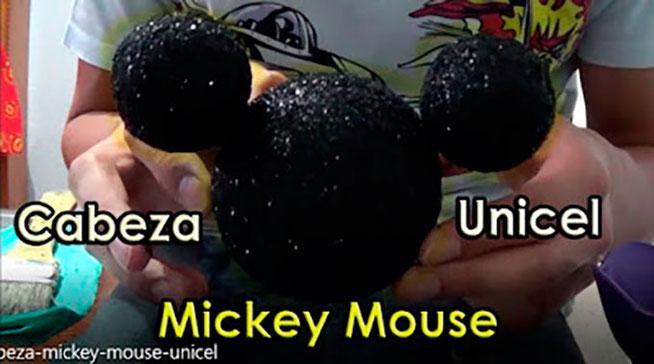 como hacer una cabeza de mickey para decoración de fiesta