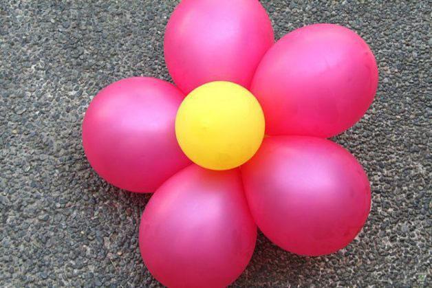 arreglo de flor doble de globos para fiesta