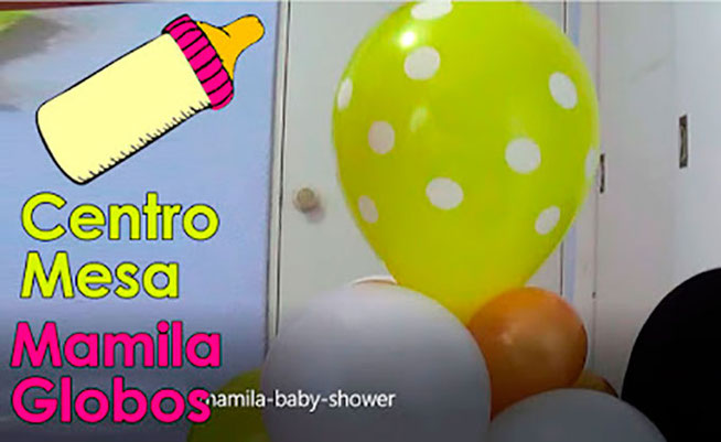 decoracion baby shower mamila de globos