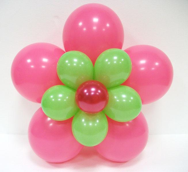 flor de globos doble para fiesta infantil