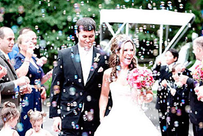 lluvia de burbujas para boda
