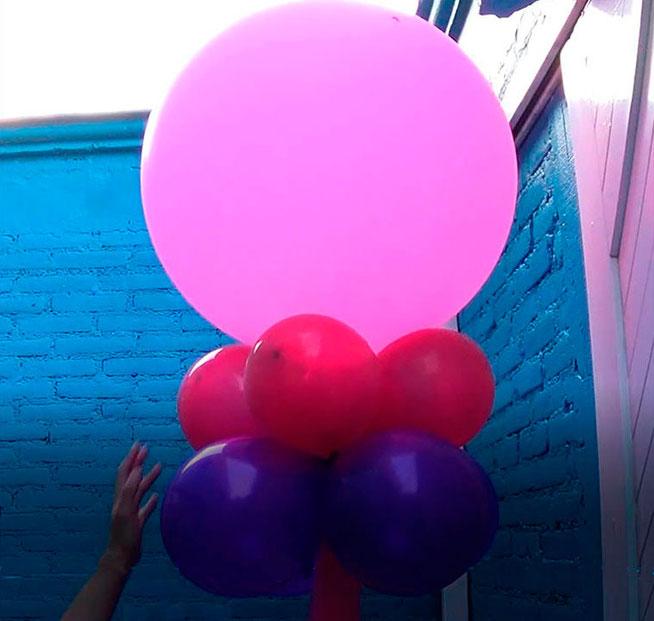 globo gigante para boda con tela