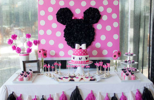 mesa de dulces minnie mouse