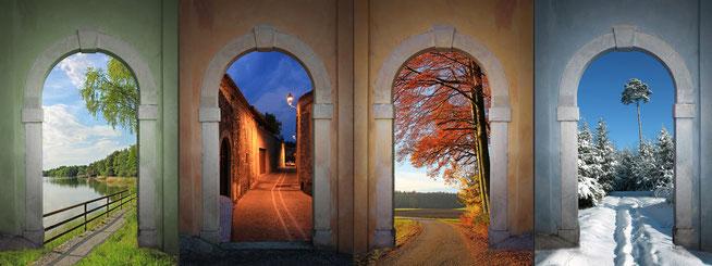 Viele Wege, viele Jahreszeiten und Stimmungen. Doch der Weg ist immer vorhanden.
