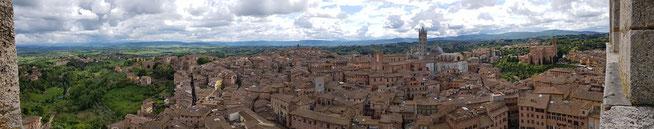 Panorama de la ville de Sienne