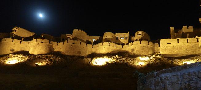 Bild: Fort von Jaisalmer bei Nacht