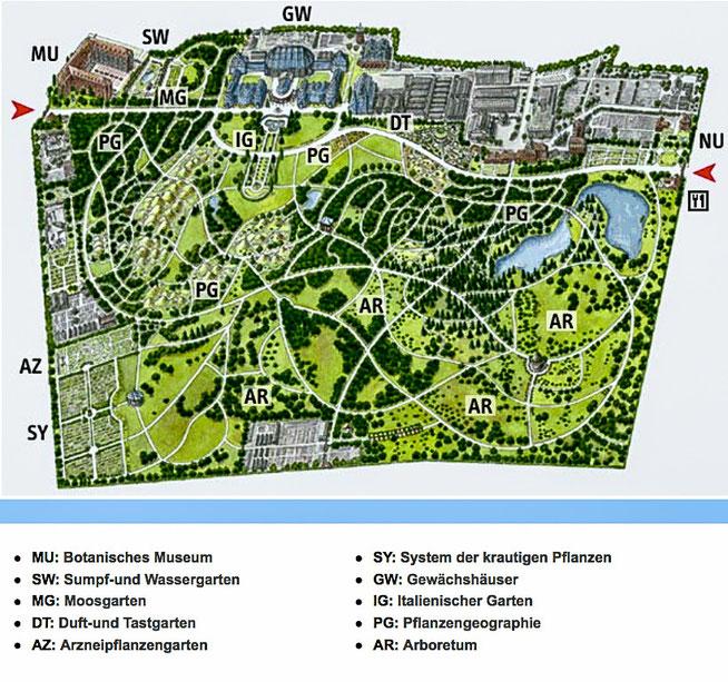 Bild: Karte Botanischer Garten in Berlin