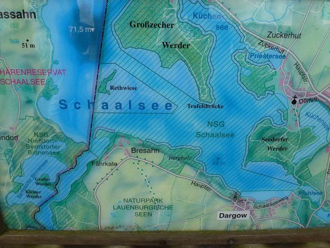Bild: Karte vom Schaalsee