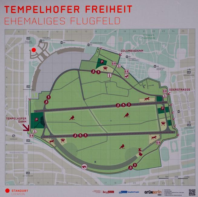 Bild: Karte Tempelhofer Freiheit