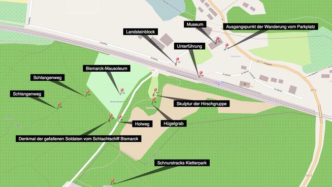 Bild: Karte vom Wanderweg Sachsenweg Nr. 6 - Schlangenweg