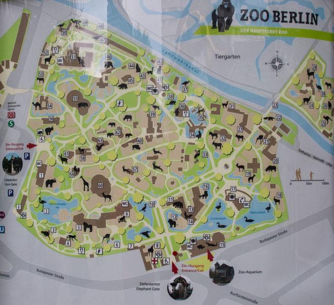 Bild: Karte Zoo Berlin