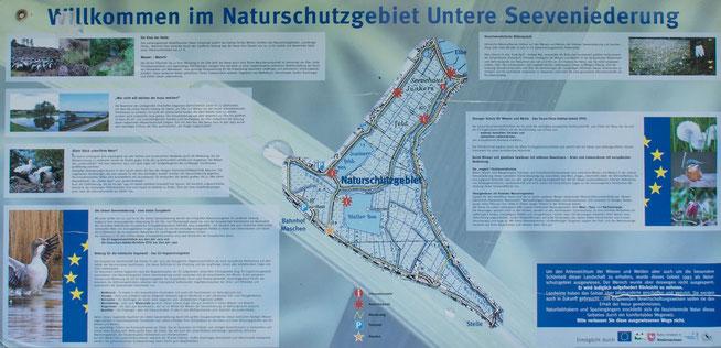 Bild: Tafel im Naturschutzgebiet Untere Seeveniederung zur Information