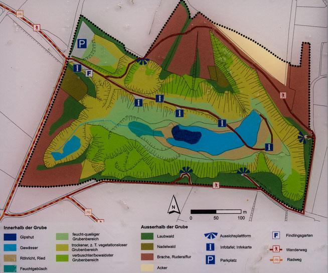 Bild: Karte von der Liether Kalkgrube