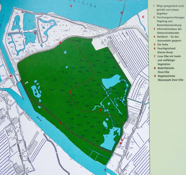 Bild: Karte des Naturschutzgebietes Die Reit