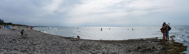 Bild: Panoramafoto der Badebucht auf der Insel Poel