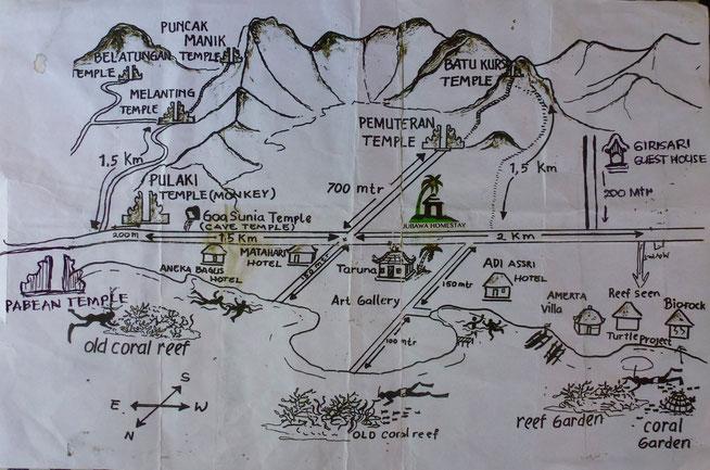 Bild: Karte von Pemuteran und Umgebung