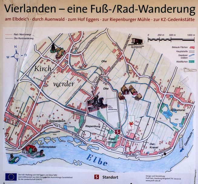 Bild: Vielanden - eine Fuß-/Rad-Wanderung-Karte