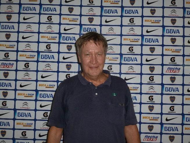 Bild: Rainer im argentinischen Fußballstadion