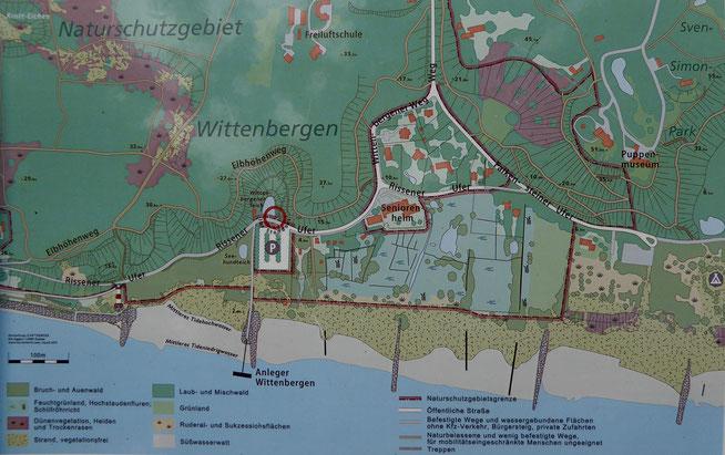 Bild: Karte des Naturschutzgebiet Wittenberg