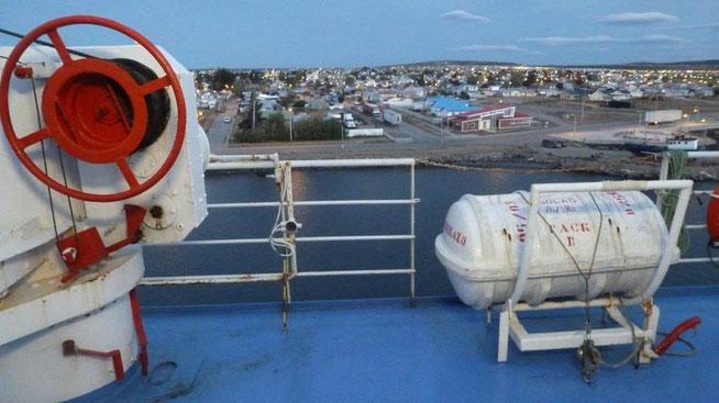 Bild: Hafen von Puerto Natales