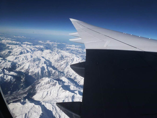 Bild: Blick aus dem Flugzeug