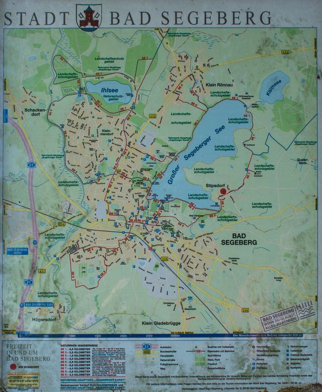 Bild: Karte Stadt Bad Segeberg