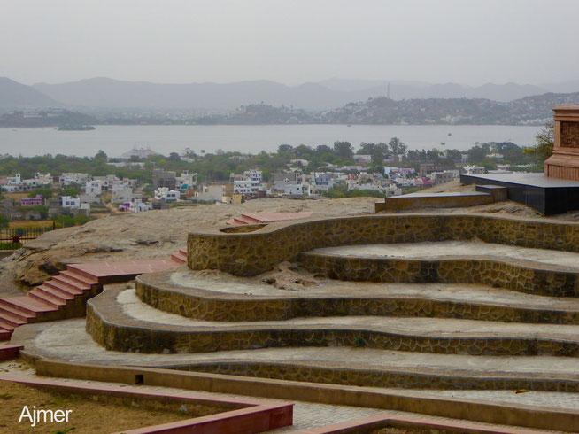 Bid: Blick auf Ajmer in Rajasthan, Indien