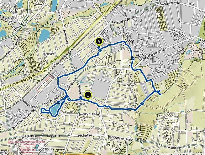 Bild: Karte Rehlau und Jetfelder Moor