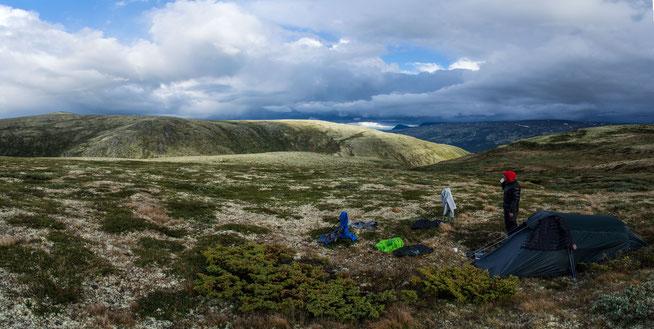Bild: Unser Zeltplatz in Norwegen