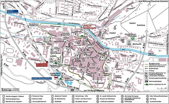 Bild: Karte von Osterode am Harz