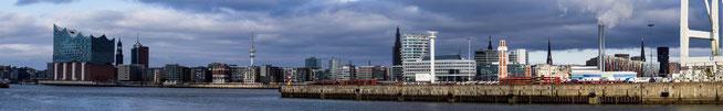 Bild: Blick auf den Hamburger Hafen