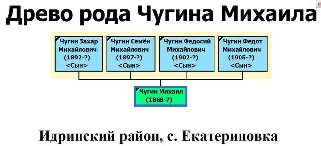 Древо рода Чугина Михаила Ильича