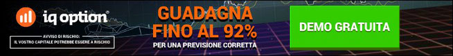 IQOPTION demo opzioni binarie senza deposito con 92% rendimento