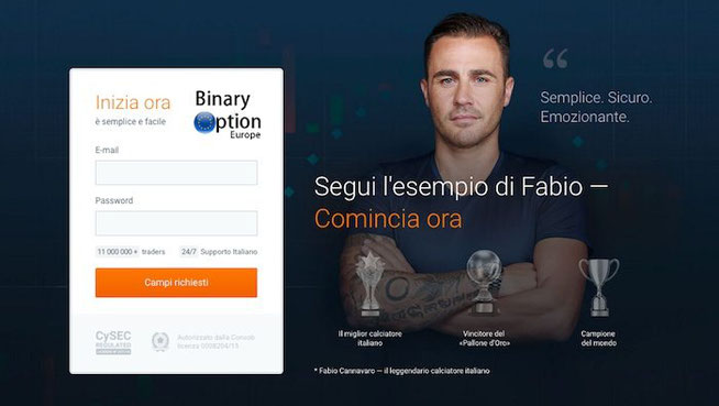 fabio cannavaro trading iqoption opzioni binarie
