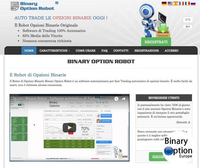 Binary option robot recensione