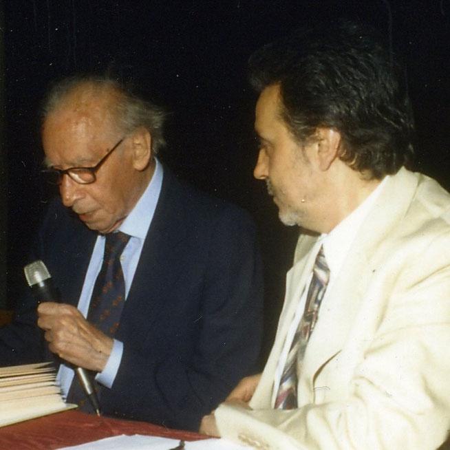 Marco Marchi con Mario Luzi