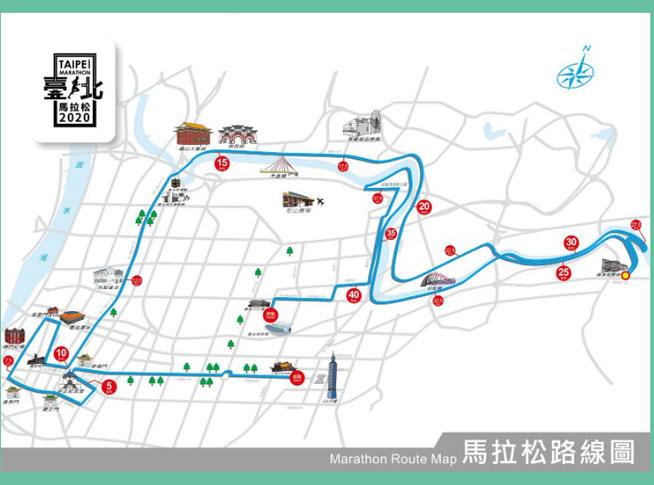 台北マラソンコース