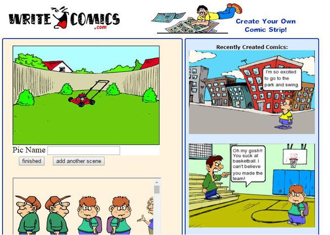 bez logowania - http://writecomics.com/