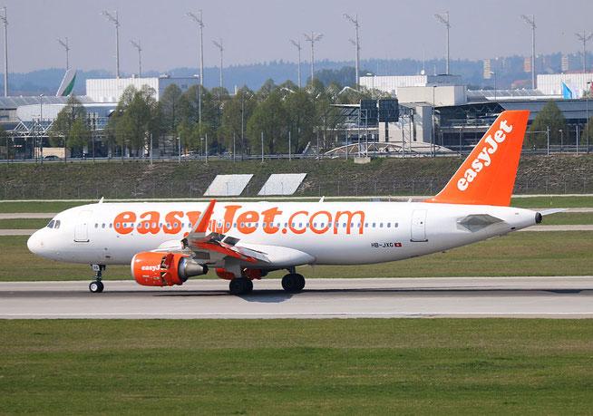 "A 320-214/W  "" HB-JXG "" easyJet Switzerland -2"