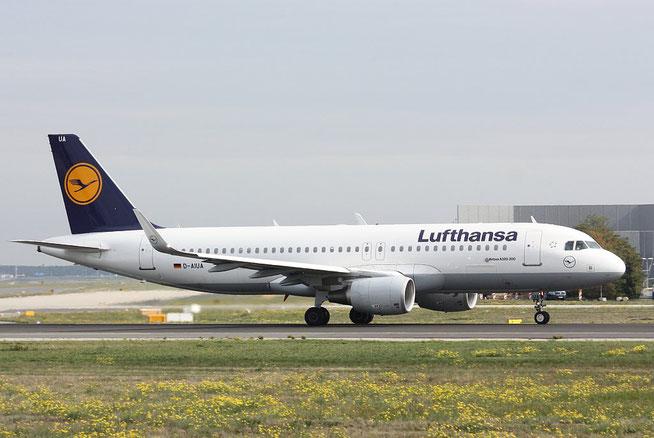 """A 320-214/W  """" D-AIUA """"  Lufthansa -2"""