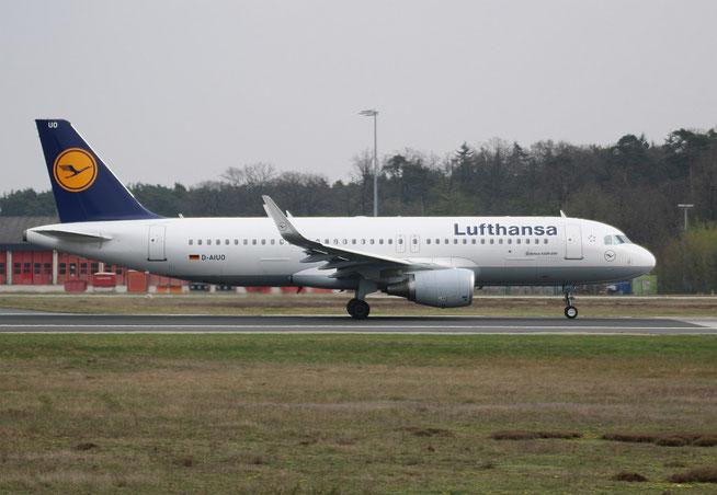 "A 320-214/W  "" D-AIUO ""  Lufthansa -1"