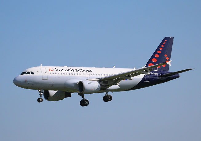 "A 319-112  "" OO-SSM ""  Brussels Airlines -1"