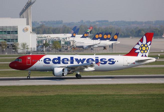 """A 320-214 """" HB-IJV """"  Edelweiss Air -2"""