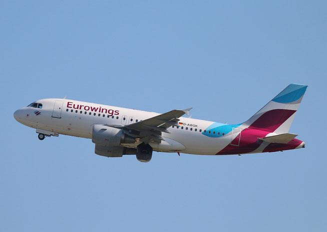 """A 319-112  """" D-ABGK """"  Eurowings -4"""