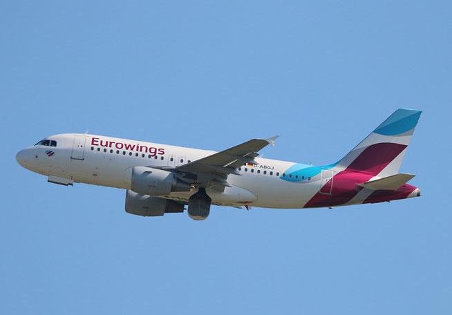 "A 319-112  "" D-ABGJ "" Eurowings -5"