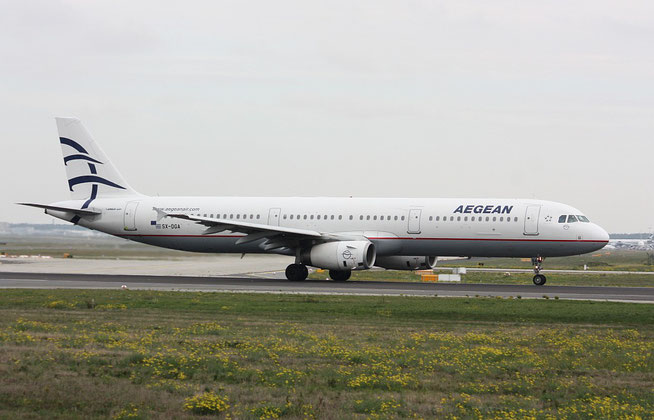 """A 321-231  """" SX-DGA """" Aegean Airlines -1"""