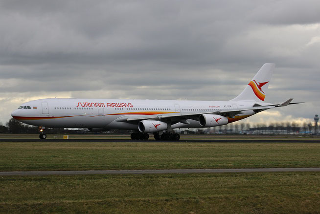 "A 340-313  "" PZ-TCR ""  Surinam Airways -2"