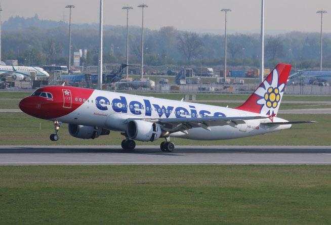 """A 320-214 """" HB-IJV """"  Edelweiss Air -1"""