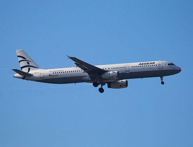 """A 321-231  """" SX-DVZ """" Aegean Airlines -1"""