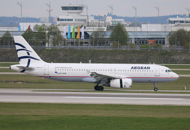 "A 320-232 "" SX-DVN "" Aegean Airlines -1"